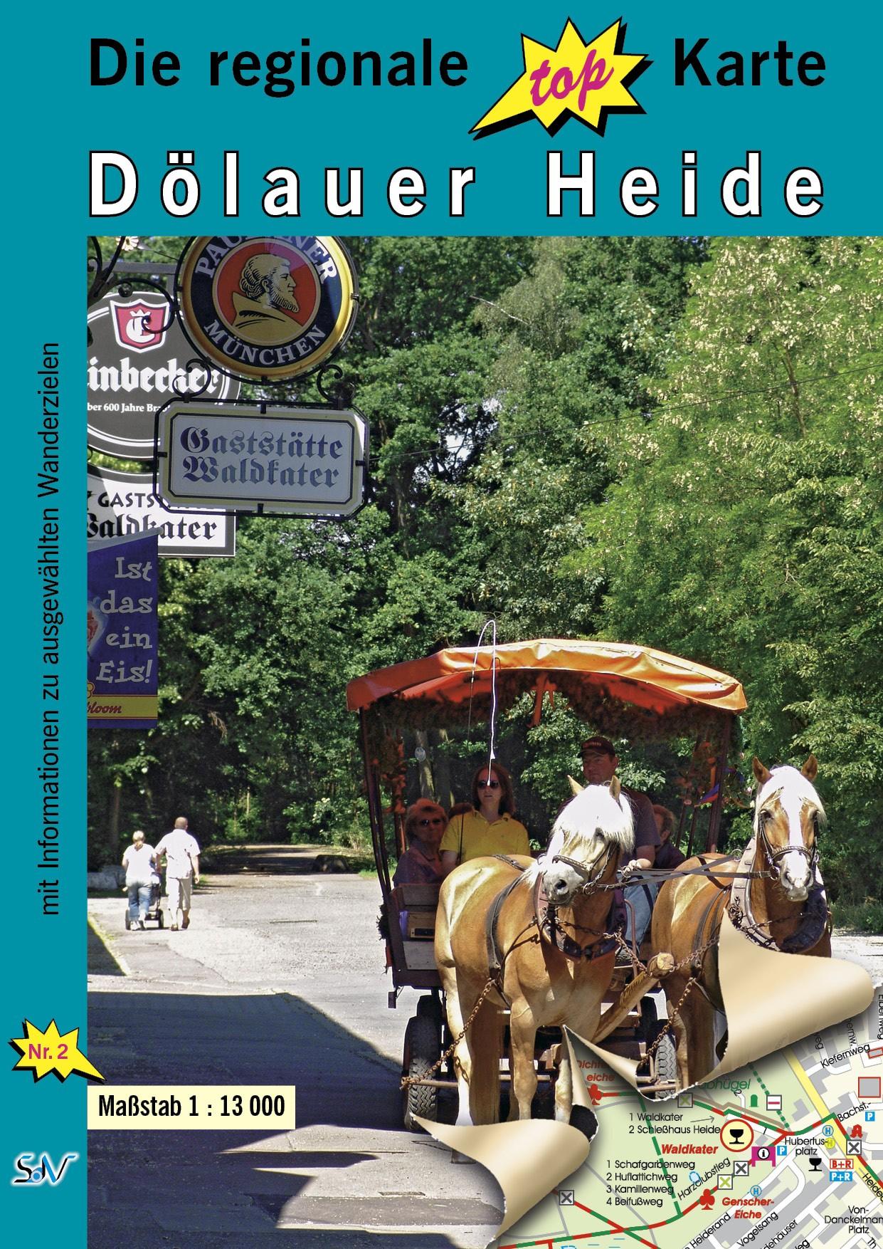 Wanderkarte Dölauer Heide